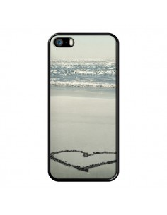 Coque Cœur Plage Beach Mer Sea Love Sable Sand pour iPhone 5 et 5S - R Delean
