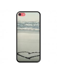Coque Cœur Plage Beach Mer Sea Love Sable Sand pour iPhone 5C - R Delean