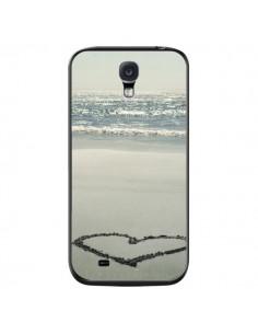 Coque Cœur Plage Beach Mer Sea Love Sable Sand pour Samsung Galaxy S4 - R Delean