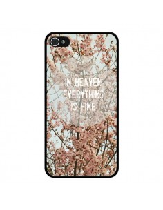 Coque In heaven everything is fine paradis fleur pour iPhone 4 et 4S - R Delean