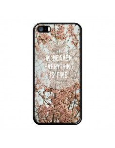 Coque In heaven everything is fine paradis fleur pour iPhone 5 et 5S - R Delean