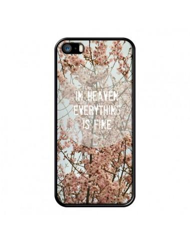 Coque In heaven everything is fine paradis fleur pour iPhone 5 et 5S - R Delean