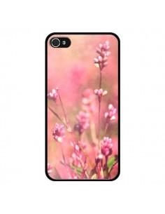 Coque Fleurs Bourgeons Roses pour iPhone 4 et 4S - R Delean