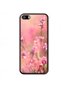 Coque Fleurs Bourgeons Roses pour iPhone 5 et 5S - R Delean