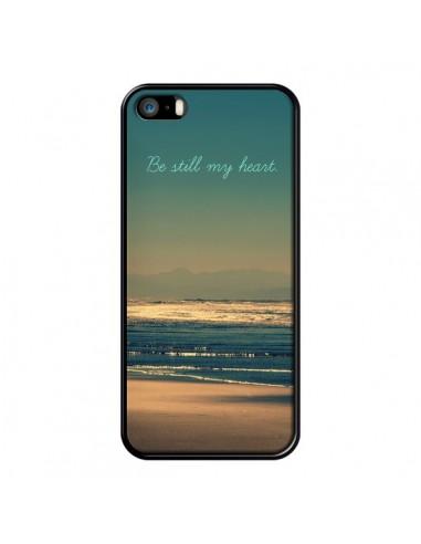 Coque Be still my heart Mer Sable Beach Ocean pour iPhone 5 et 5S - R Delean