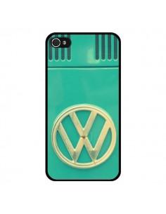 Coque Groovy Van Hippie VW Bleu pour iPhone 4 et 4S - R Delean