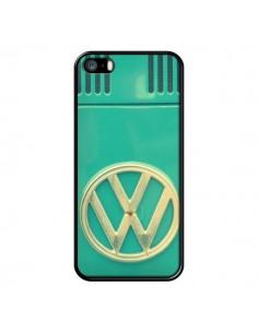 Coque Groovy Van Hippie VW Bleu pour iPhone 5 et 5S - R Delean