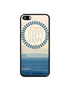 Coque Happy Day Mer Ocean Sable Plage Paysage pour iPhone 5 et 5S - R Delean