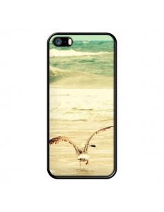 Coque Mouette Mer Ocean Sable Plage Paysage pour iPhone 5 et 5S - R Delean