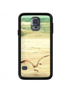Coque Mouette Mer Ocean Sable Plage Paysage pour Samsung Galaxy S5 - R Delean