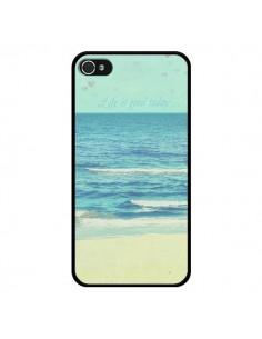 Coque Life good day Mer Ocean Sable Plage Paysage pour iPhone 4 et 4S - R Delean