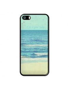 Coque Life good day Mer Ocean Sable Plage Paysage pour iPhone 5 et 5S - R Delean