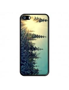 Coque Hiver Paysage Neige Montagnes Sapins Ski pour iPhone 5 et 5S - R Delean