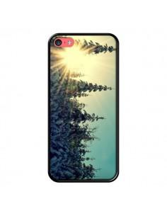 Coque Hiver Paysage Neige Montagnes Sapins Ski pour iPhone 5C - R Delean