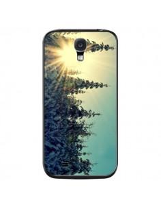Coque Hiver Paysage Neige Montagnes Sapins Ski pour Samsung Galaxy S4 - R Delean