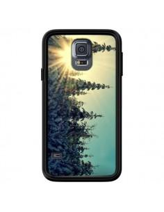 Coque Hiver Paysage Neige Montagnes Sapins Ski pour Samsung Galaxy S5 - R Delean