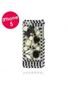 Coque Noire en Relief pour iPhone 5