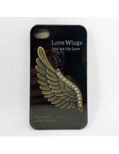 Coque Ailes d'ange Strass Miroir pour iPhone 4/4S