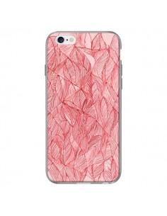 Coque Courbes Meandre Rouge Cerise pour iPhone 6 Plus - Elsa Lambinet