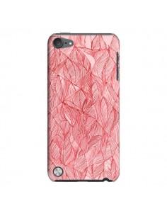 Coque Courbes Meandre Rouge Cerise pour iPod Touch 5 - Elsa Lambinet