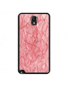Coque Courbes Meandre Rouge Cerise pour Samsung Galaxy Note 4 - Léa Clément