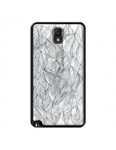 Coque Courbes Meandre Blanc Noir pour Samsung Galaxy Note 4 - Léa Clément