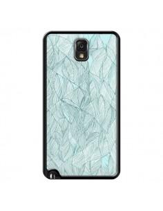 Coque Courbes Meandre Bleu Vert Nuageux pour Samsung Galaxy Note 4 - Léa Clément