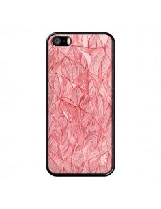 Coque Courbes Meandre Rouge Cerise pour iPhone 5 et 5S - Elsa Lambinet