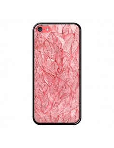 Coque Courbes Meandre Rouge Cerise pour iPhone 5C - Elsa Lambinet