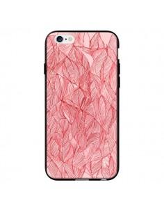 Coque Courbes Meandre Rouge Cerise pour iPhone 6 - Elsa Lambinet
