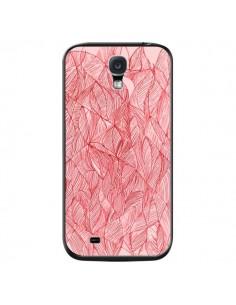 Coque Courbes Meandre Rouge Cerise pour Samsung Galaxy S4 - Léa Clément