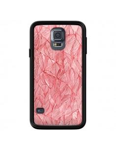 Coque Courbes Meandre Rouge Cerise pour Samsung Galaxy S5 - Léa Clément