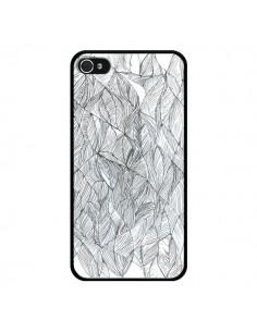 Coque Courbes Meandre Blanc Noir pour iPhone 4 et 4S - Léa Clément
