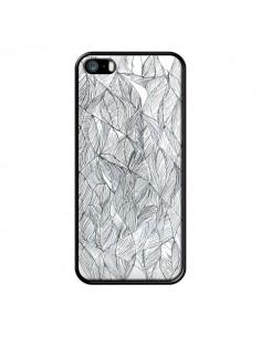 Coque Courbes Meandre Blanc Noir pour iPhone 5 et 5S - Léa Clément