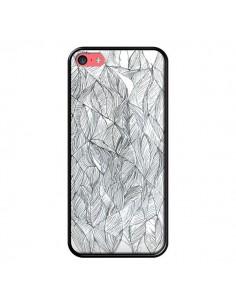 Coque Courbes Meandre Blanc Noir pour iPhone 5C - Léa Clément