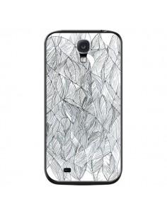 Coque Courbes Meandre Blanc Noir pour Samsung Galaxy S4 - Léa Clément