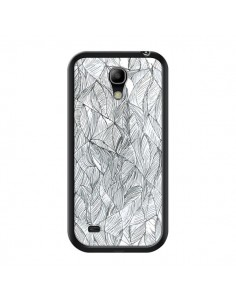 Coque Courbes Meandre Blanc Noir pour Samsung Galaxy S4 Mini - Léa Clément