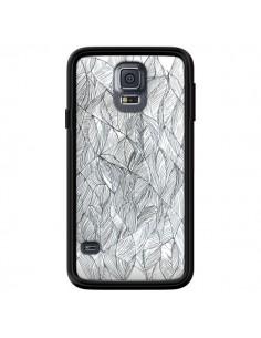 Coque Courbes Meandre Blanc Noir pour Samsung Galaxy S5 - Léa Clément
