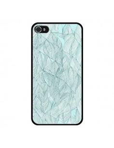 Coque Courbes Meandre Bleu Vert Nuageux pour iPhone 4 et 4S - Léa Clément