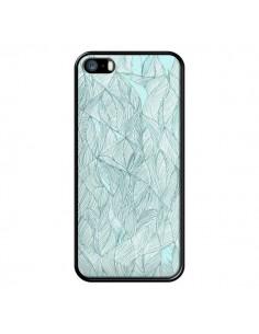 Coque Courbes Meandre Bleu Vert Nuageux pour iPhone 5 et 5S - Léa Clément