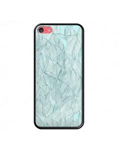 Coque Courbes Meandre Bleu Vert Nuageux pour iPhone 5C - Léa Clément