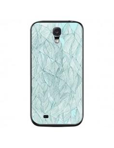 Coque Courbes Meandre Bleu Vert Nuageux pour Samsung Galaxy S4 - Léa Clément