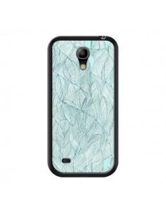 Coque Courbes Meandre Bleu Vert Nuageux pour Samsung Galaxy S4 Mini - Léa Clément
