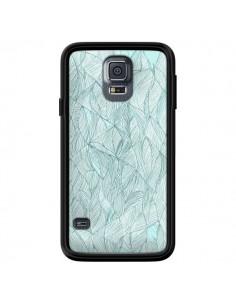 Coque Courbes Meandre Bleu Vert Nuageux pour Samsung Galaxy S5 - Léa Clément