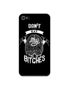 Coque Don't eat my brain Bitches Cerveau Noir pour iPhone 4 et 4S - Senor Octopus