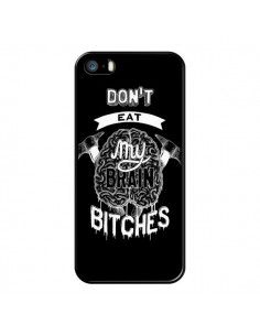 Coque Don't eat my brain Bitches Cerveau Noir pour iPhone 5 et 5S - Senor Octopus