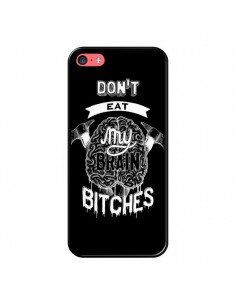 Coque Don't eat my brain Bitches Cerveau Noir pour iPhone 5C - Senor Octopus