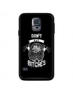 Coque Don't eat my brain Bitches Cerveau Noir pour Samsung Galaxy S5 - Senor Octopus