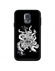Coque Greetings from the kraken Tentacules Poulpe pour Samsung Galaxy S5 - Senor Octopus