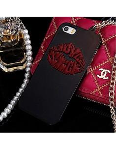 Coque Lèvres en relief avec Chaine pour iPhone 5/5S
